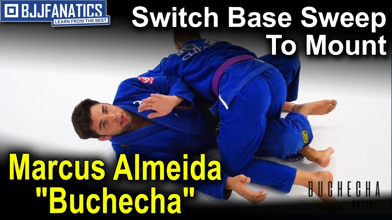 "Switch Base Sweep To Mount by Marcus Almeida ""Buchecha"" BJJ Techniques"