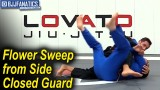 Flower Sweep from Side Closed Guard by Rafael Lovato