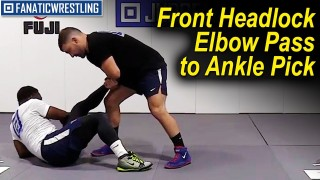Front Headlock Elbow Pass to Ankle Pick by Dan Vallimont