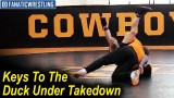 Keys To The Duck Under Takedown by John Smith