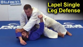 Lapel Single Leg Defense – BJJ Technique by Amaury Bitetti