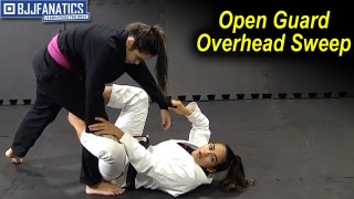 Open Guard Overhead Sweep by Bia Mesquita