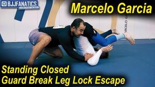 Standing Closed Guard Break, Leg Lock Escape by Marcelo Garcia
