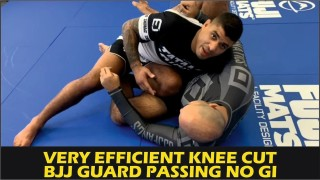 Very Efficient Knee Cut BJJ Guard Passing No Gi by JT Torres