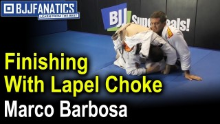 Finishing With Lapel Choke by Marco Barbosa