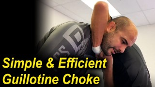 "How To Do The Most Simple And Efficient Guillotine Choke by Karel ""Silver Fox"" Pravec"