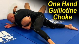 "How To Do The One Hand Jiu Jitsu Guillotine Choke by Karel ""Silver Fox"" Pravec"