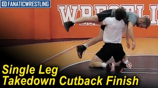 Single Leg Takedown Cutback Finish by Dustin Schlatter